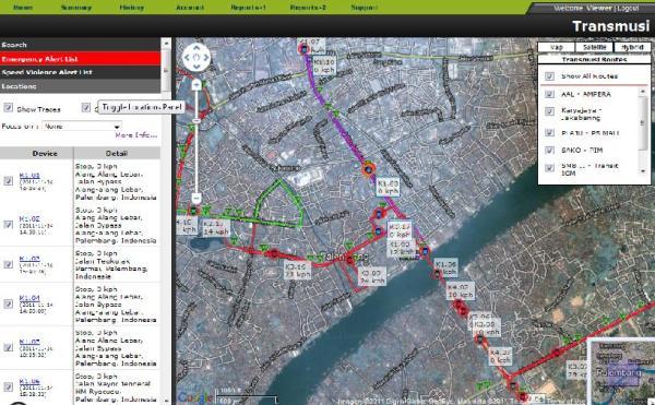 Fleet Monitoring System BRT Transmusi Palembang